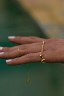 Bayar Gold 14 Ayar Altın Bombeli Kalp Kolye