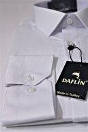 Daflin Erkek Beyaz Pamuk Saten Gömlek