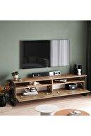 Yurudesign ML19 Iron Metal Tv Ünitesi Tv Sehpası 2 Kapaklı 180cm
