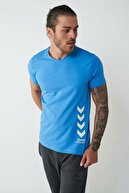 HUMMEL Erkek Mavi Kaıser Kısa Kollu Tişört