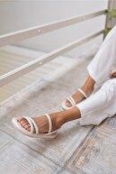 ANGELİNA JONES Kadın Bej Vegan Deri Sandalet