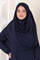 Bemol Pratik Rahat Tek Parça Namaz Elbisesi Lacivert