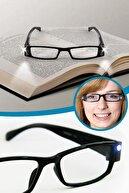 Hd Led Işıklı Kitap Okuma Gözlüğü Camsız Gözlük