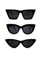 Nilu Moda Kadın Güneş Gözlüğü 3 Lü Set Fırsat Ürünü
