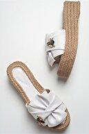 luvishoes T02 Beyaz Taşlı Kadın Terlik