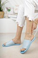 Moda Frato Kadın Mavi Parmak Arası Terlik
