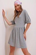 Trend Alaçatı Stili Kadın Grimelanj Scatter Elbise ALC-X6407-RW