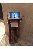 Ankaflex Ahşap Wc Kağıtlık Tuvalet Telefon Tutucu Standı Özellikli Banyo Kağıtlık