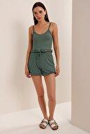 HAKKE Kadın Mint Askılı Fırfırlı Pijama Takımı