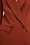 TRENDYOLMİLLA Kahverengi Blazer Ceket TWOSS20CE0059