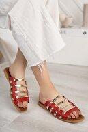 Moda Frato Kadın Kırmızı Açık Terlik