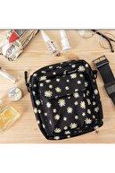 muyoso Papatya Tasarımlı Bag Cırtlı Dik