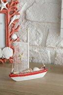 English Home Sailing Vessel Mdf Dekoratif Obje 12,5x3x15 Cm Mercan