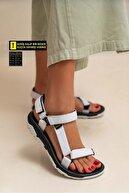Nstil Kadın Sandalet Step Sandalet Deniz Yürüyüş Düz Taban Cırtlı