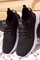 Moda Frato Erkek Siyah Triko Spor Sneaker Xstreet 430