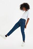 TRENDYOLMİLLA Lacivert Yüksek Bel Mom Jeans TWOSS20JE0108