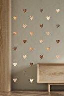 ENGINPRINT 84 Parça Suluboya Efektli Kahverengi Kalpler Duvar Stickerı