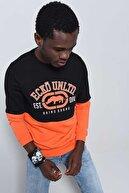 Ecko Unltd Siyah Erkek Baskılı Bisiklet Yaka Sweatshirt LOGO SWEAT 2