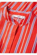 Mango Kadın Kırmızı Çizgili Koton Elbise