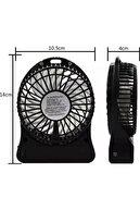 Trendmallar Şarjlı Vantilatör Mini Masaüstü El Fan Taşınabilir 3 Kademeli Usb