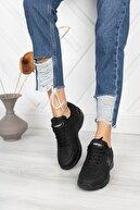 AYAKKABI BÜYÜSÜ Ful Ortepedik Unısex Su Geçirmez Siyah Spor Ayakkabı Sneaker