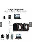 GFUZ Bilgisayar Hoparlörü Pc Laptop Notebook Telefon Hoparlör 3.5mm Jack Usb Speaker Ses Sistemi 1+1