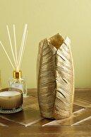 English Home Banana Leaf Vazo 11x11x23.8cm Gold