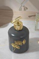 English Home Gingko Cam Banyo Sıvı Sabunluk 8x8x14 Cm Lacivert
