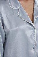 Pierre Cardin Kadın Saten Biyeli Pijama Takımı -1200 Mist