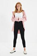 TRENDYOLMİLLA Siyah Yüksek Bel Skinny Jeans TWOSS20JE0301