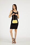 Etka Çanta Kadın Sarı Nakışlı Mini Gissle Çanta