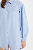 Trendyol Modest Açık Mavi Balon Kol Tunik TCTSS21GO0976
