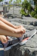 Jump Kadın Gri Kalın Taban Spor Yürüyüş Sneaker Ayakkabı