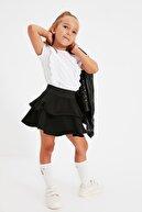 TRENDYOLKIDS Siyah Volanlı Kız Çocuk Dokuma Etek TKDAW22ET0062