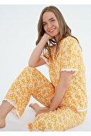 Suwen Camellia Maskulen Pijama Takımı