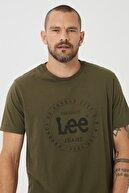 Lee Erkek Yeşil Regular Fit Normal Kesim Sıfır Yaka %100 Pamuk Tişört