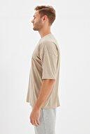 TRENDYOL MAN Taş Basic Erkek Bisiklet Yaka Oversize Kısa Kollu T-Shirt TMNSS21TS0811