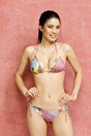 Aquella Kadın Kaplı Renkli Üçgen Bikini Takımı