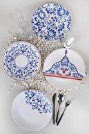 Keramika Blue Palace Servis Tabağı 25 Cm 4 Adet - 18925-27-28-44
