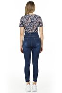 Lela Kadın Yüksek Bel Skinny Pamuklu Jeans Kot Pantolon 58713259