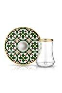Koleksiyon Ev ve Mobilya Dervish Karo Yeşil çay Seti 6 lı