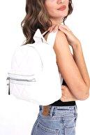 Top All BAG Kadın Beyaz Kapitone Sırt Çanta