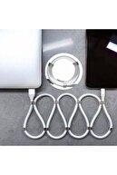 Polygold Teknomarketim Manyetik Iphone Hızlı Şarj Özellikli Mıknatıslı Kablo Beyaz