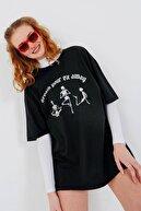 Addax Baskılı T-shirt P9526 - W8