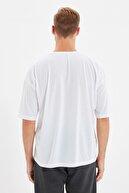 TRENDYOL MAN Beyaz Basic Erkek Bisiklet Yaka Oversize Kısa Kollu T-Shirt TMNSS21TS0811