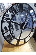 Kaizen Hediye Gümüş Aynalı Pleksi & Siyah Ahşap Mdf Duvar Saati