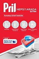 Pril HepsiBirArada Ekstra 90Yıkama Bulaşık Makinesi Deterjanı Tableti(2x45Paket)+56lı Islak Mendil Hediye