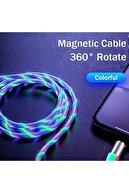 Suba Manyetik Mıknatıslı Hareketli Işıklı 3 Uçlu Karışık Renkli Kablo