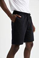 NewCabin Unisex Slim Fit Gri Siyah Pamuklu Yazlık Şort 2'li