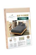 ELY PARKER (Pamuklu Penye) Lastikli Çarşaf Takımı Yüksek Yataklara Tek-Çift Kişilik Tüm Ebatlar Yavruağzı